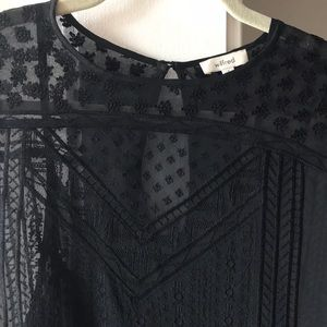 Sheer black mini dress